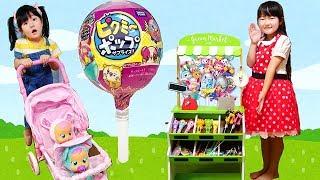 お菓子屋さんごっこ遊び!怪しいキャンディ🍭ピクミーポップサプライズ!Pretend play with Suspicious Candy shop Pikmi Pops Surprise
