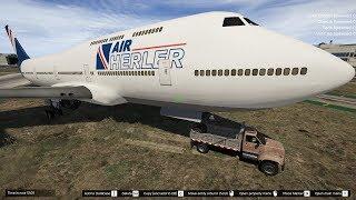 GTA 5 - Thử thách lấy xe ben kéo máy bay chở khách và đi lùi lên núi | ND Gaming