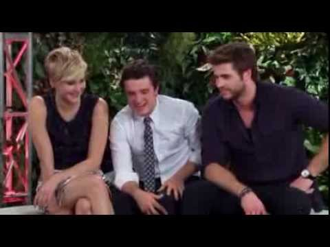 Catching Fire Tribute Interview With Jennifer Lawrence, Josh Hutcherson and Liam Hemsworth Part 1