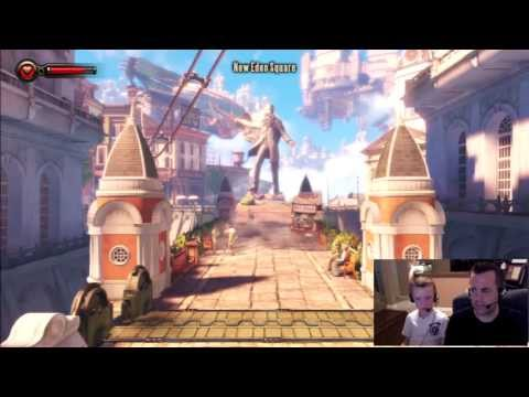 Bioshock Infinite 15 Minutes of Game HD 1080 Review and Game-play Commentary by Deaner and Argus