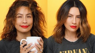 EASIEST WAY TO SMOOTH OUT HAIR | DESI PERKINS