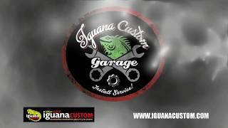 Instalación alforja Bando con hueco amortiguador Harley Sportster - Iguana Custom