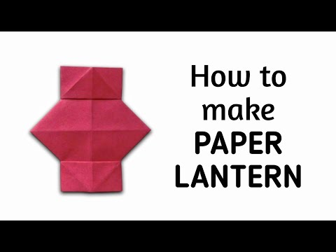 How to make an origami paper lantern | Origami / Paper Folding Craft, Videos and Tutorials. thumbnail