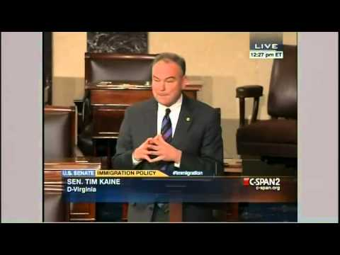 Sen. Tim Kaine Delivers Senate Floor Speech Supporting Immigration Reform in Spanish