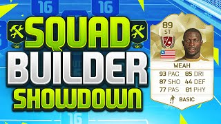 FIFA 16 SQUAD BUILDER SHOWDOWN!!! LEGEND GEORGE WEAH!!! 89 Legend Weah Squad Duel