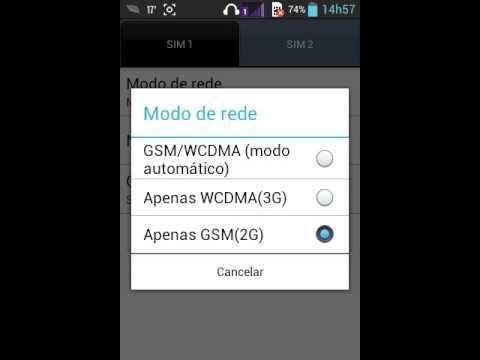 Como Trocar o Modo De Rede No Android(2G/3G/4G)