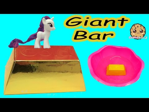 Biggest Super Gold Dig It Surprise Digging Gold Bar In Water with My Little Pony Rarity
