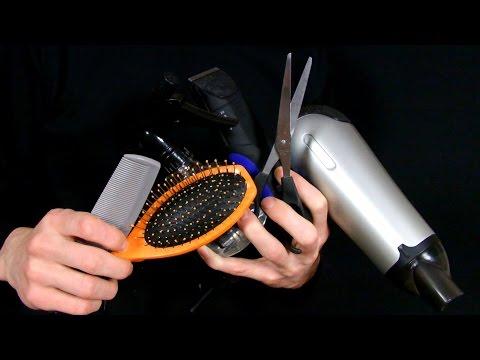 ASMR hairdresser/barber/haircut (binaural recordin
