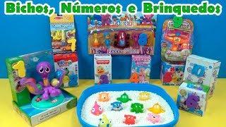 ESCOLHA 2 e vamos brincar! Bichos, Números e Brinquedos ! SÃO 10 BRINQUEDOS!!