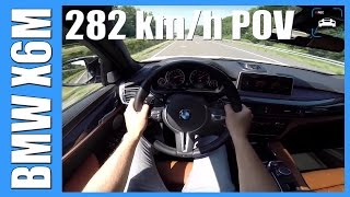 BMW X6M ACCELERATION & TOP SPEED POV Autobahn Test Drive & Sound