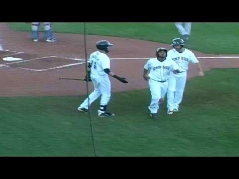 Nolan Arenado hits an RBI double for the Sky Sox