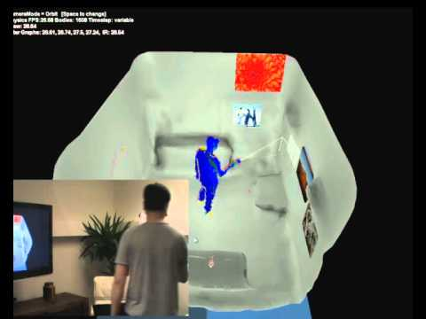 Augmenting Indoor Spaces Using Interactive Environment-aware Handheld Projectors