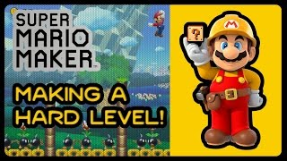 Super Mario Maker - Making A Hard Level/Course/Stage [Time Lapse] (1080p/60fps)
