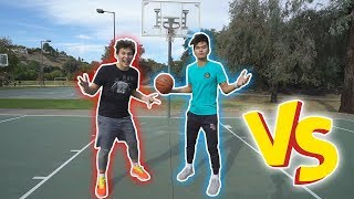 BASKETBALL CHALLENGES VS BING COLLEGE ATHLETE!