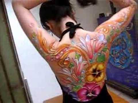 Fileteado Porteño, body paint, (cuerpo pintado)