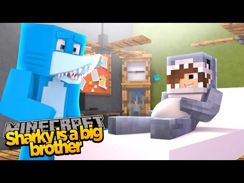 Minecraft ADVENTURE - SHARKY & SCUBA STEVE - SHARKY'S MAM IS HAVING A BABY!??