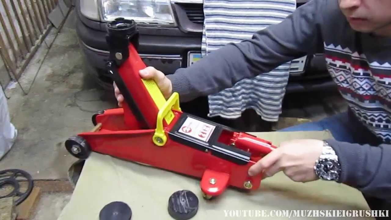 Автомобильный гидравлический подкатной домкрат ремонт своими руками 85