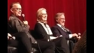 THE POST talk with Meryl Streep, Tom Hanks, Steven Spielberg & crew - November 27, 2017