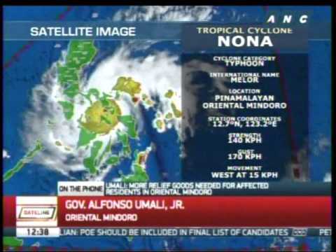 'Nona' strongest typhoon to hit Mindoro since 2005, says gov