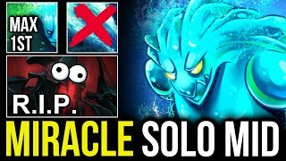 How MIRACLE- Morphling Mid Solo vs SF - Situational Skill Build Max Attribute Shift First DOTA 2