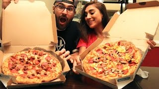 TRYING EACH OTHERS FAVORITE PIZZAS!!