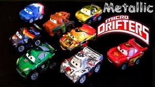 8 Micro Drifters Metallic Finish Cars 2 Miguel Camino, Mater Lightning McQueen Shu Todoroki toys
