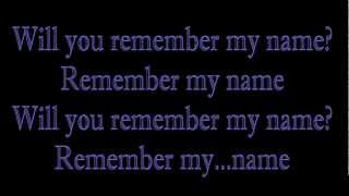 Remember My Name