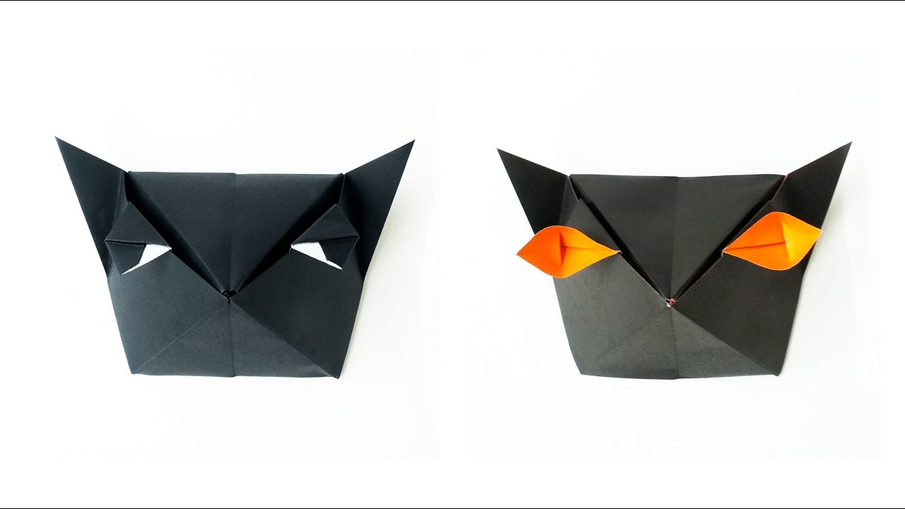 Cat Head Origami Origami Cat-head Box Caja