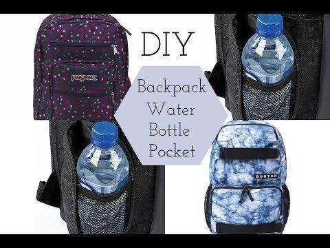 DIY School Backpack Water Bottle Pocket