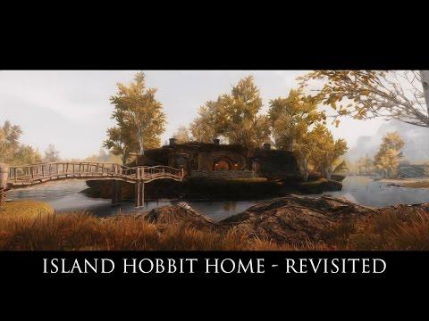 TES V - Skyrim Mods: Island Hobbit Home - Revisited