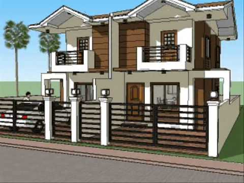 Small house plan design duplex unit youtube for Small duplex house
