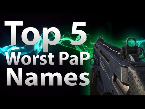 TOP 5 Worst Pack a Punch Names in Call of Duty Zombies Black Ops 2 Zombies COD BO WaW