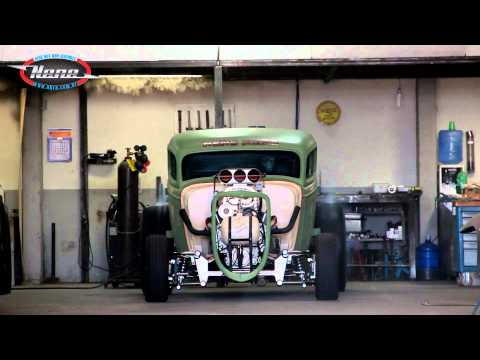 Nene NHRA - Ford 34 Drag Rat V8 Blower - Burnout