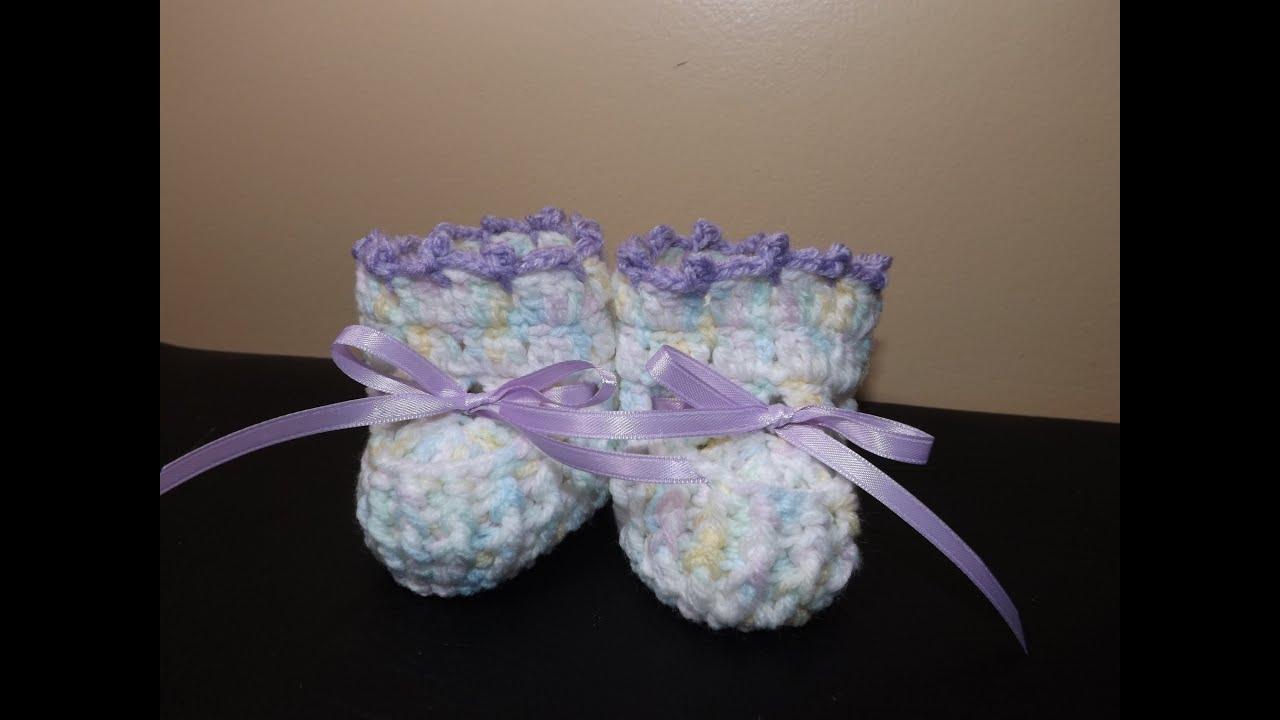 Crochet Tutorial Zapatitos Bebe Escarpines : Escarpines y zapatitos para bebe a crochet Bottes ou chaussures