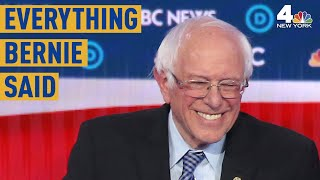 Everything Sen. Bernie Sanders Said at the Las Vegas Democratic Debate | NBC New York