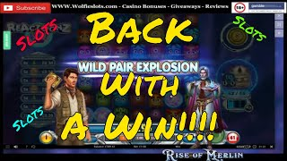Online Slots - including Reactoonz 2 - Book of Dead - Tomb of madness - rise of Olympus - Merlin