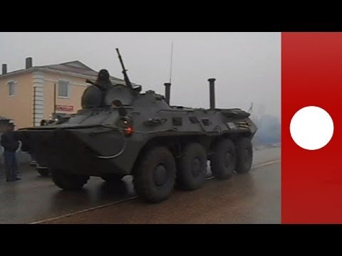 Video: Mystery APCs spotted in Ukraine's Crimea puzzle locals
