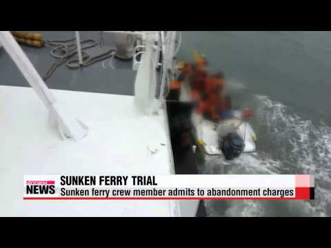 Sunken ferry crew member admits to abandonment charges