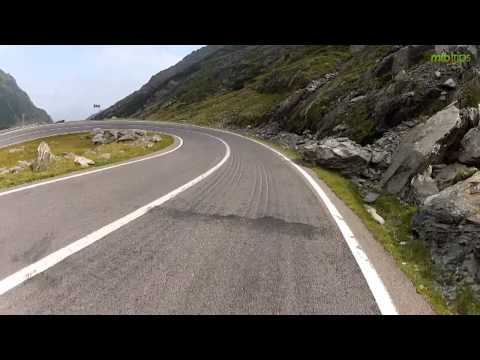 Mtb adventure on Transfagarasan road, passing the Carpathians in Romania