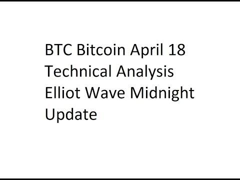BTC Bitcoin April 18 Technical Analysis Elliot Wave Midnight Update