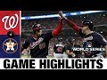 Stephen Strasburg, Anthony Rendon help Nats to World Series G...