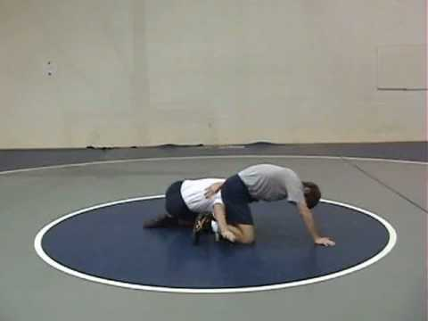 Sweep Single Leg Takedown Wrestling Technique Image 1