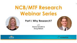 NCB/MTF Free Research Webinar Series: Part I, Why Research?