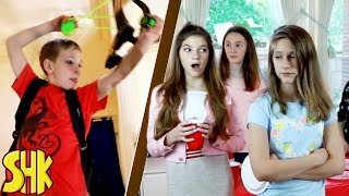 Noah's Perfect Party Battle! Sis vs Bro vs Friends | SuperHeroKids