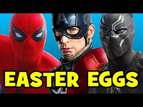 Captain America Civil War ALL EASTER EGGS, References & SECRET CAMEOS