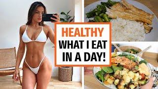 REALISTIC WHAT I EAT IN A DAY!!! HEALTHY MEAL IDEAS | KRISSY CELA