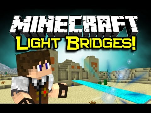 Minecraft - LIGHT BRIDGES AND DOORS MOD Spotlight! - Futuristic! (Minecraft Mod Showcase)