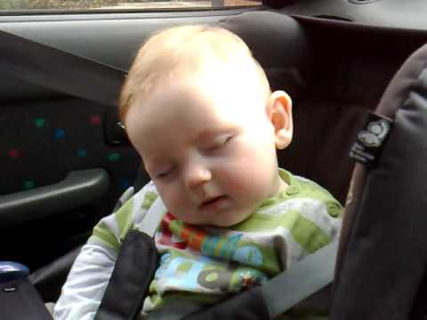 Cute Baby Leo Fighting Sleep