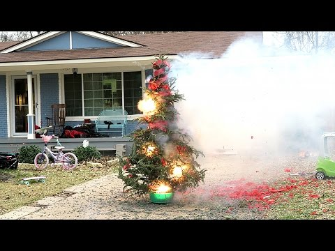 BLOWING UP OUR CHRISTMAS TREE!