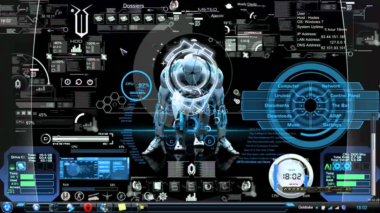 Animated 3d wallpaper jarvis interface - Tony Stark Jarvis Wallpaper